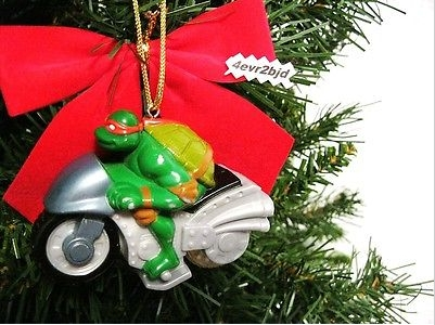 Ninja Turtles Motorcycle Ornament - The 12 Worst Motorcycle-Themed Christmas Ornaments We Could Find