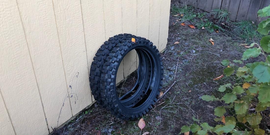 best way to store dirt bike tires motosport. Black Bedroom Furniture Sets. Home Design Ideas