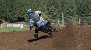 Dirt bike rider on Motocross track