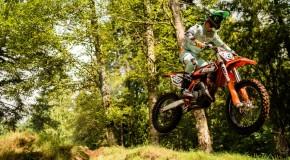 Rider on a 2-stroke dirt bike