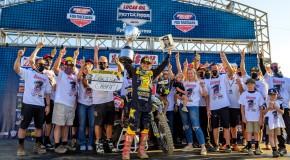 Zach Osborne celebrates 2020 450 class MX Championship