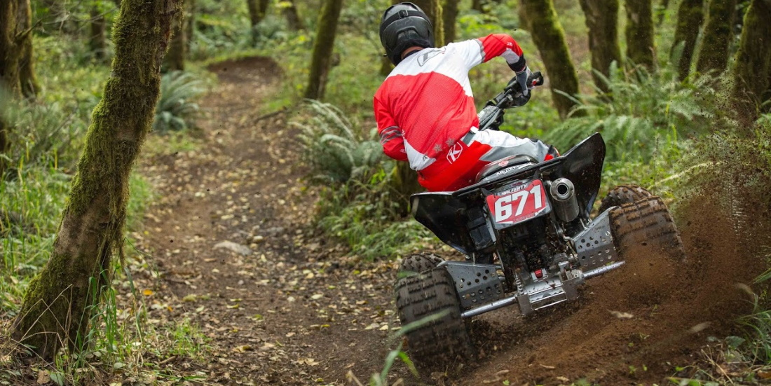 ATV rider on the trails