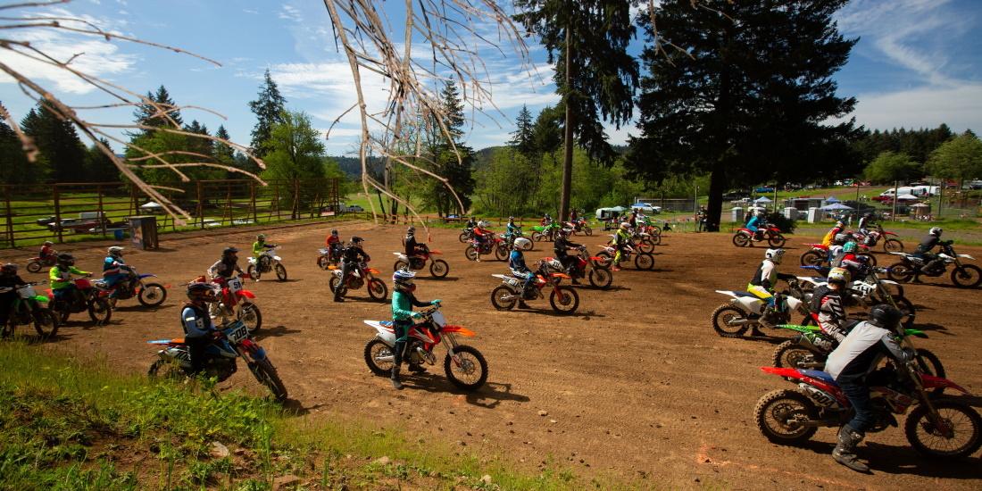 Dirt bike riders at Washougal MX