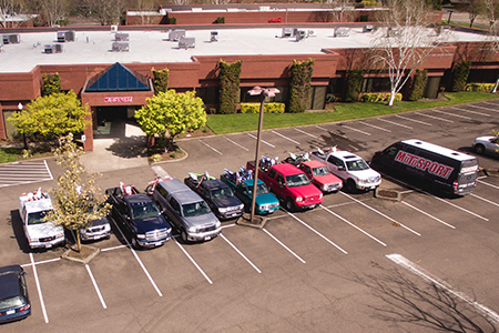 MotoSport's headquarters in Tigard, Oregon is conveniently located with ample parking